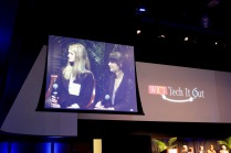Sophie and Jolie speaking on the Demo Panel at WICT RM's Tech It Out Event